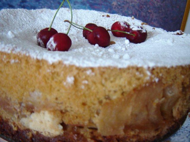 d7aad7a4d795d797 d798d795d7a8d79832 - עוגת תפוחים בשכבות בציפוי טורט תפוזים