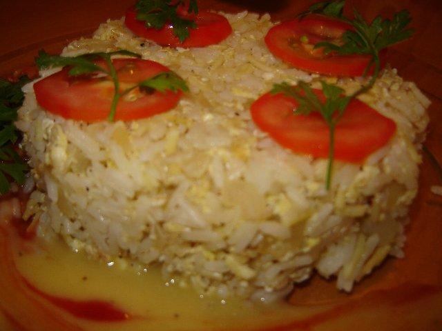 ביצים - אורז עם ביצים מטוגן וטעים