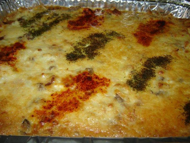 קיש כרובית פטריות מוקרם גבינות -3 שכבות