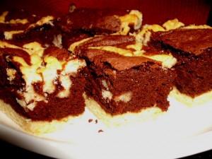 עוגת מוס שוקולד אפויה