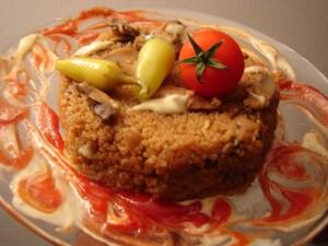 תבשיל קינואה עם פטריות
