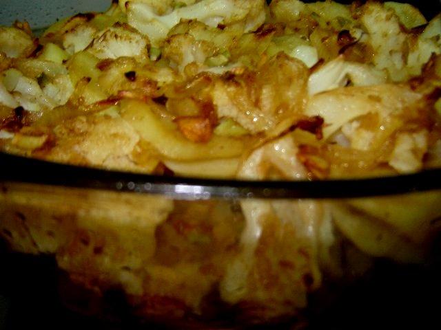 d79bd7a8d795d791d799d7aa 1 - כרובית תפוחי אדמה ובצל - אפוי בשכבות