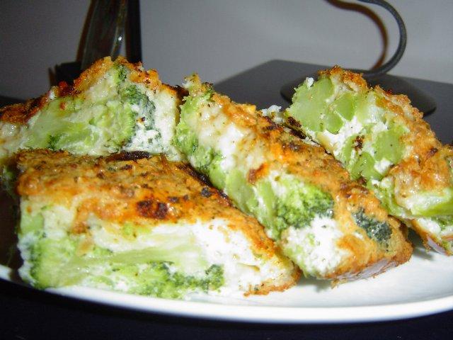 פשטידת ברוקולי עם גבינות רזות