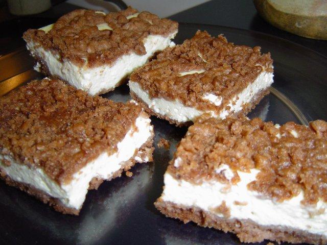 d7a4d799d7a8d795d7a8d799d7aa d7a7d7a7d790d795 - עוגת גבינה בפירורים חומים
