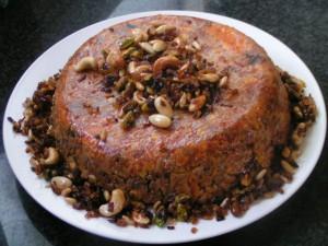 מאפה אורז עם ירקות משודרג עם בשר