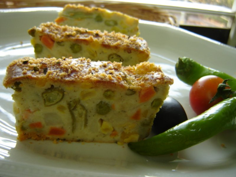 pg - פשטידת לקט ירקות בציפוי פיקנטי