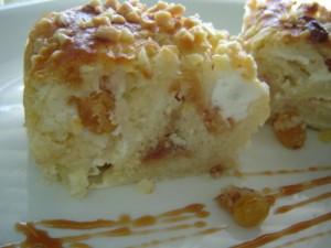 עוגת גבינה קראנץ' סילאן שוקולד לבן ושקדים