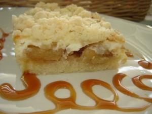 עוגת תפוחים גבינה ושטרוייזל