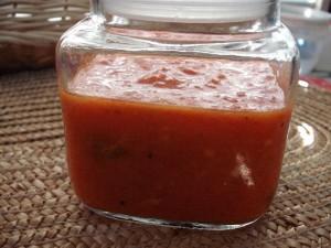 ממרח חצילים פלפלים עגבניות ושום
