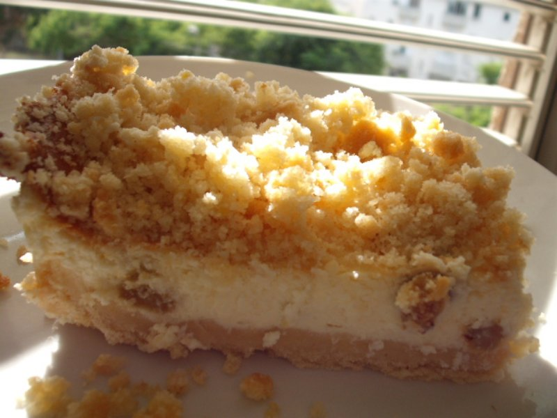 dscf5542 800x6001 - עוגת גבינה ודבש אפויה בפירורים