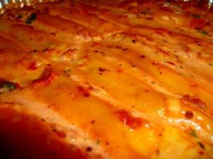 קנלוני חציל אגוזים וגבינות לאירוח