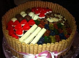 d7a2d795d792d7aa d799d795d79d d794d795d79cd793d7aa 300x223 - עוגת שוקולד מלאה בקרם וממתקים ליום הולדת