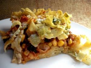 פיצה אטריות במלית ירקות