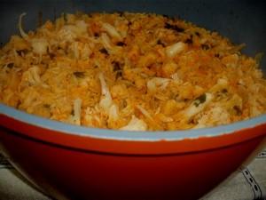 אורז ופרחוני כרובית