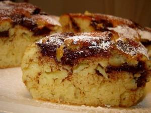 עוגת תפוחים שוקולד חלב