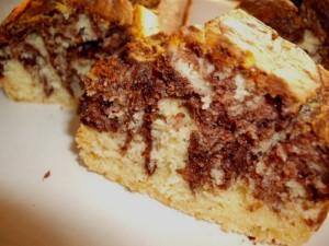 עוגת שיש שוקולד בלי סוכר