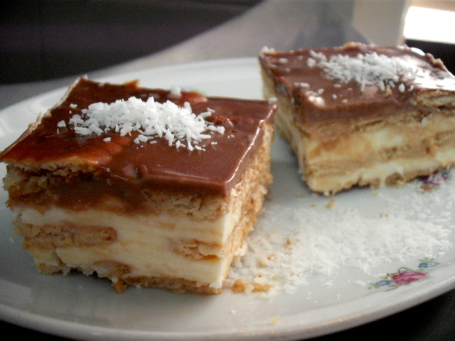 dscf7994 - עוגת גבינה קרה עם קוקוס