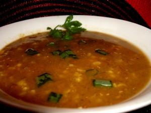 מרק עדשים ירוקות,אורז מלא ובורגול