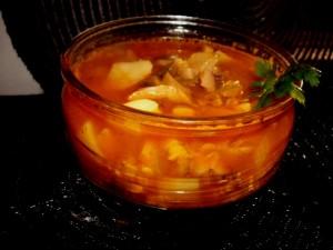 מרק פטריות תפוחי אדמה ועדשים