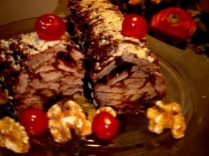נקניק שוקולד ופירות יבשים
