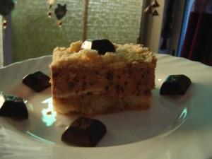 עוגת בישקוטים קרם קפה ופירורים