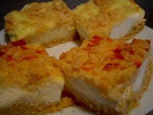 עוגת גבינה פירורים עם תחליף סוכר