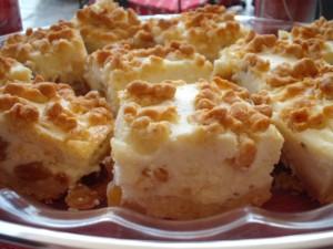 עוגת גבינה עם המון צימוקים וקינמון
