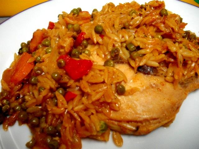 DSCF8660 - סטיק עוף עם ירקות ואורז-ארוחת מחבת