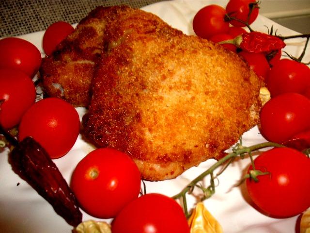 עוף - עוף זהוב טעים לפסח אפוי בתנור
